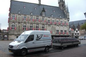 Bezorgen op locatie in Gouda op de markt.